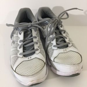 Gray & White Under Armour Sneakers